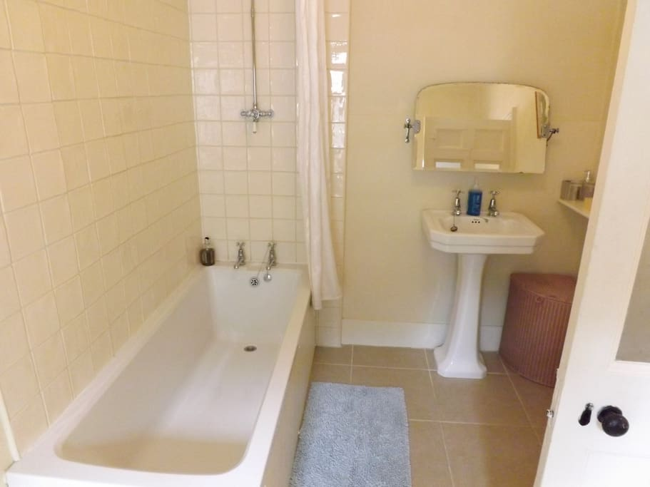 Good size bathroom with powerful shower