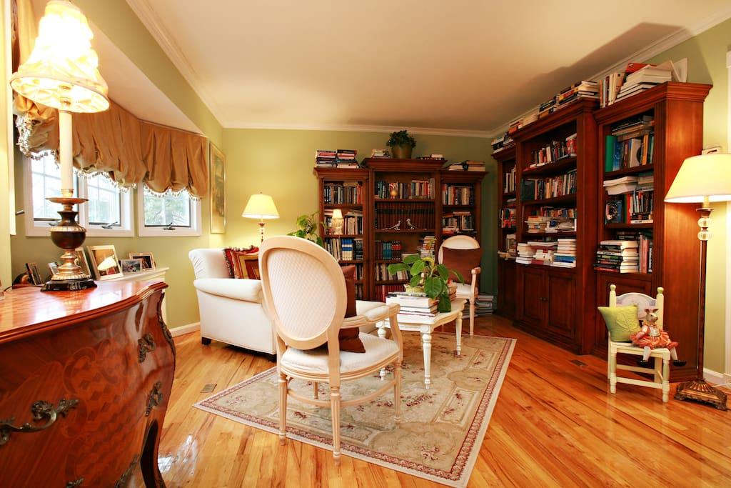 Feel free to browse in our living/library room