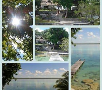 (a) Cuarto con vista a la laguna - Bacalar - Rumah