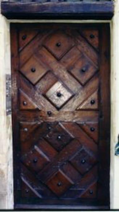 Porte en bois d'origine