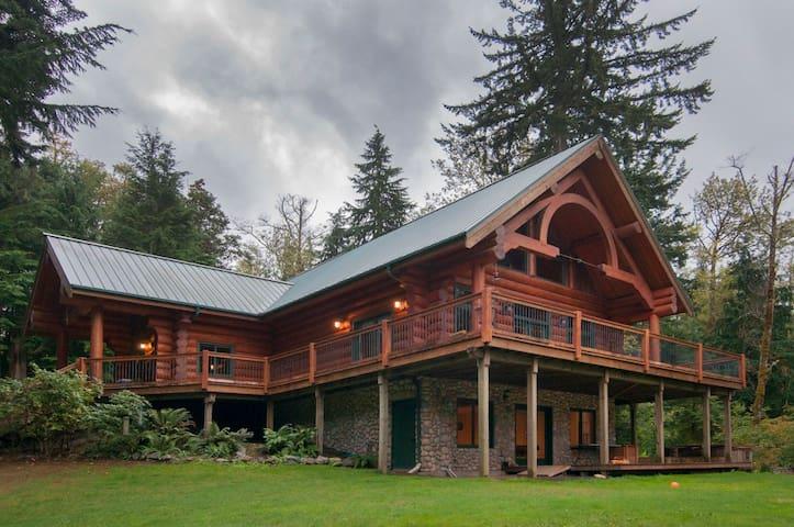 Beautiful Large Log House