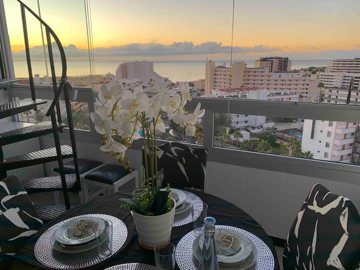 Playa Del Ingles.Mountain & sea view & roofterrace