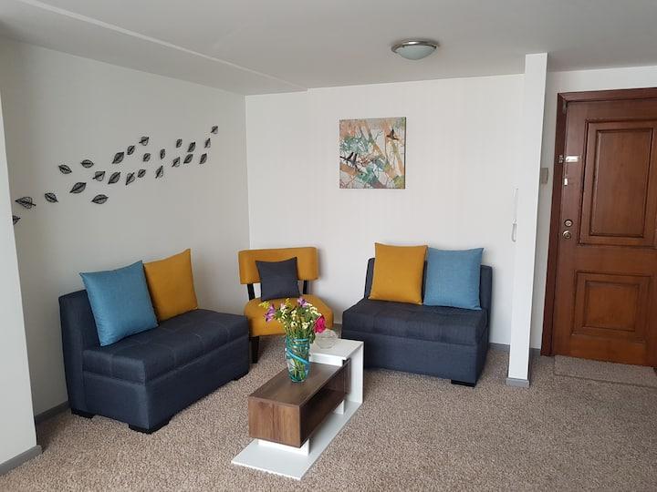 Hermosa Suite excelente ubicación en Quito Netflix