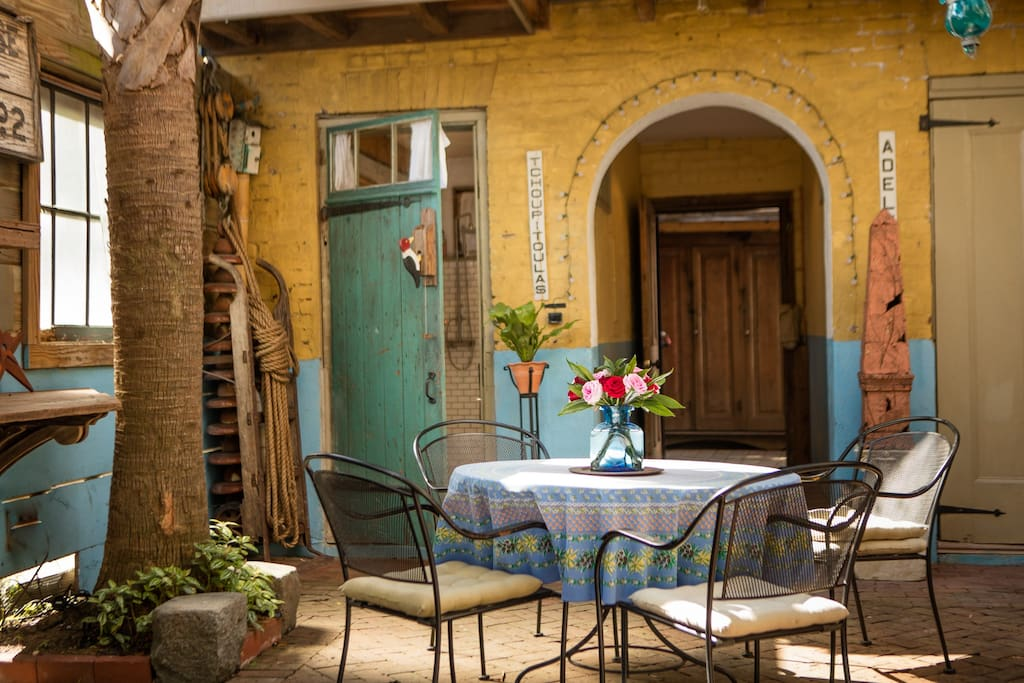 Courtyard seating for morning coffee or evening drinks.