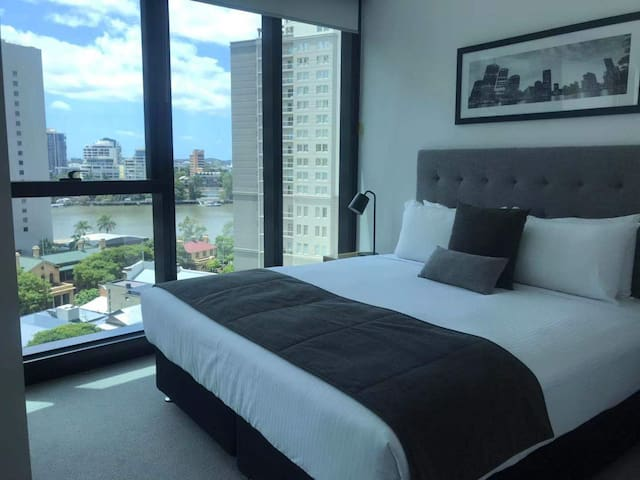 Bedroom with river view