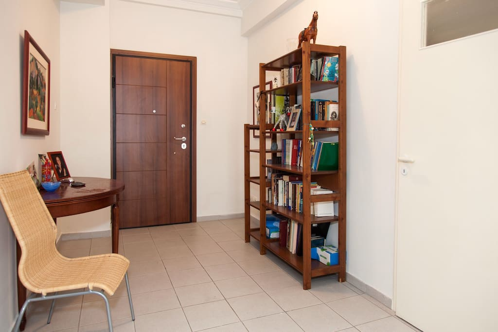 Entrance hall with the bookcase