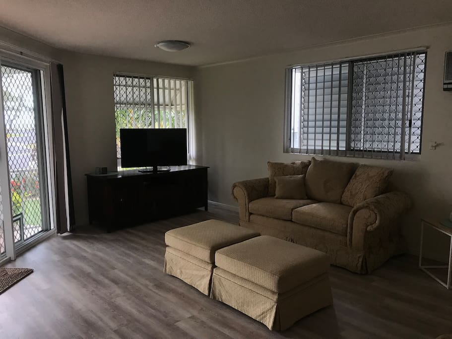 Comfortable and spacious open plan lounge area
