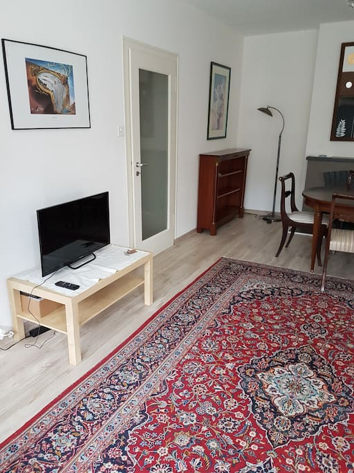 Living/dining room with TV