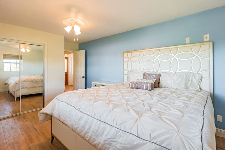 Bedroom #1 with king bed