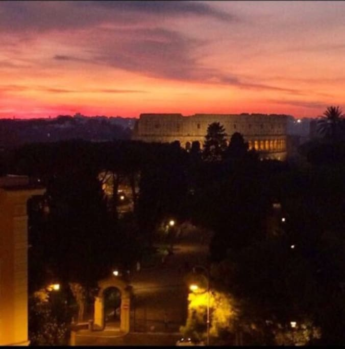 Roman summer sunset (view from the main bedroom windo)