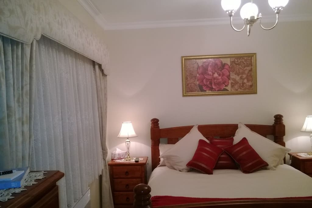 Luxurious King size bed with free TV & in-house DVD selection