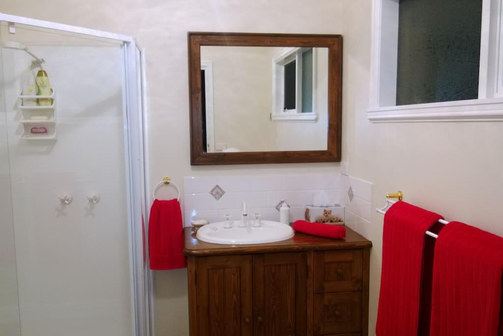 Slab heating, free toiletries, private separate toilet