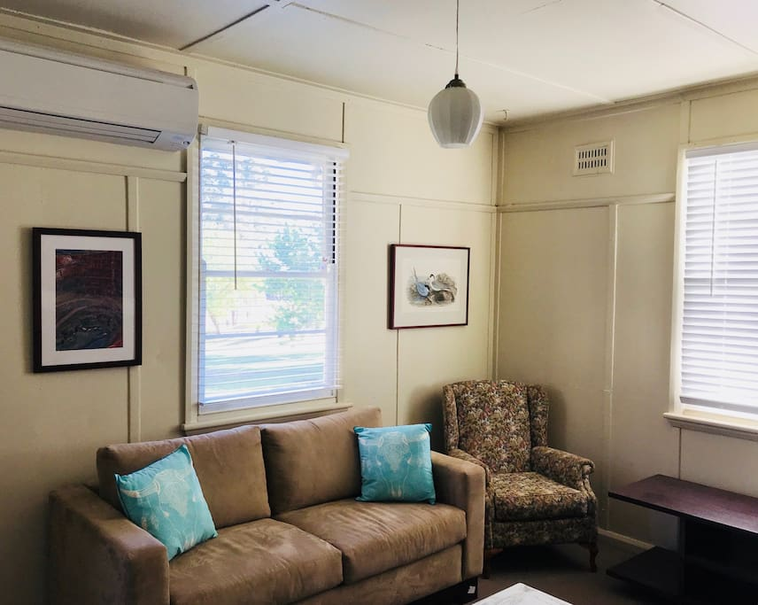 Air Conditioned Lounge with Queen Sofa Bed