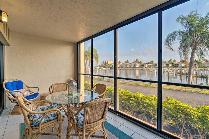 Quiet First-Floor Condo w/ Marina View & Pool