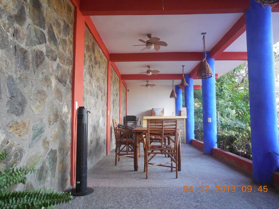 Outdoor BBQ area which can be used by all guests