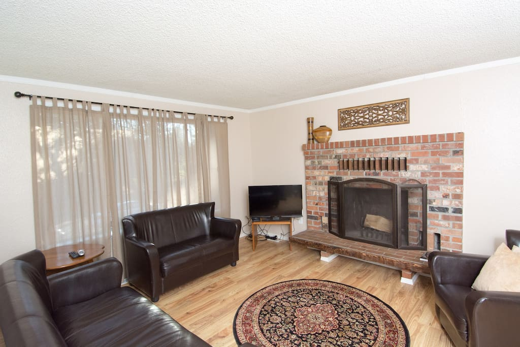 Full Living room with fireplace and TV and WIFI!   All included!