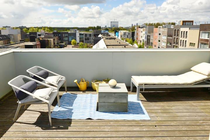 Modern family house + free parking + garden! - Amsterdam - House