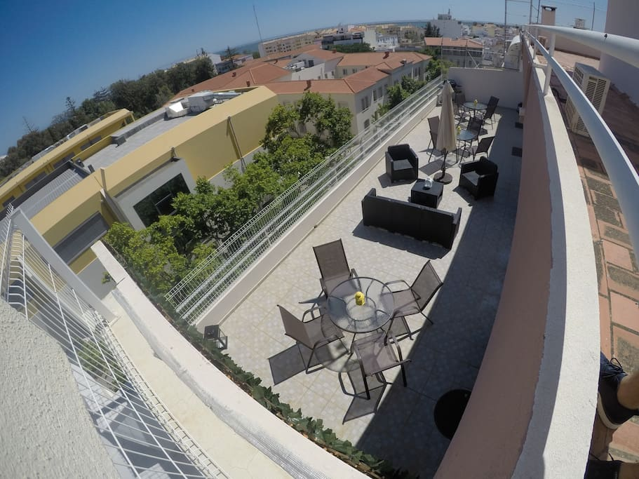 Rooftop balcony view