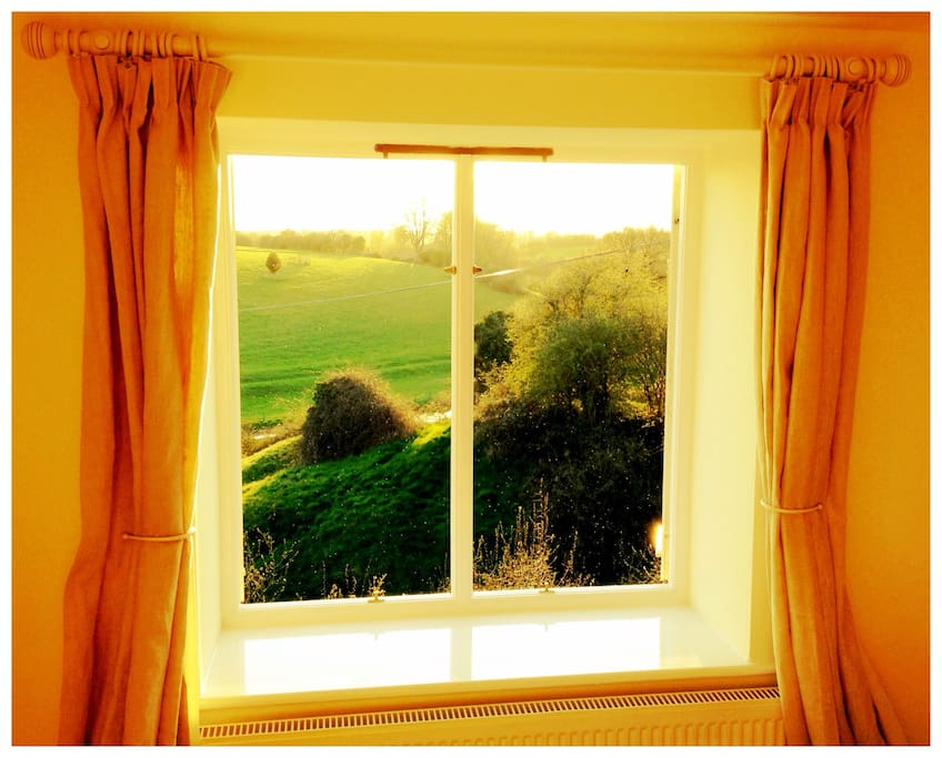 Wake up to glorious countryside.
