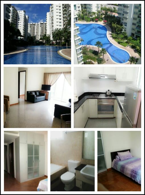 Fully furnished 2 bedroom + study
