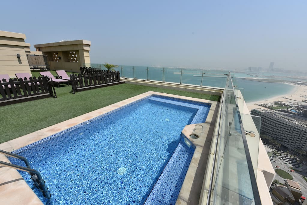 Terrace with amazing private pool