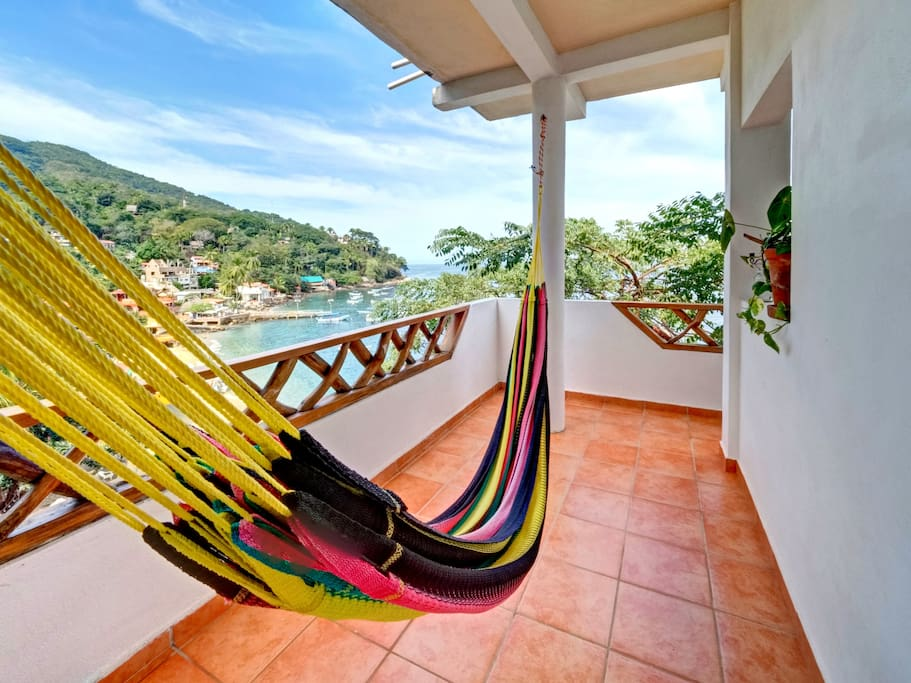 Wrap around private patio with hammock and incredible views!