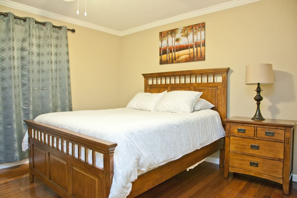 Master bedroom.  All bedrooms have 400TC Egyptian Cotton linens and sound reducing windows.