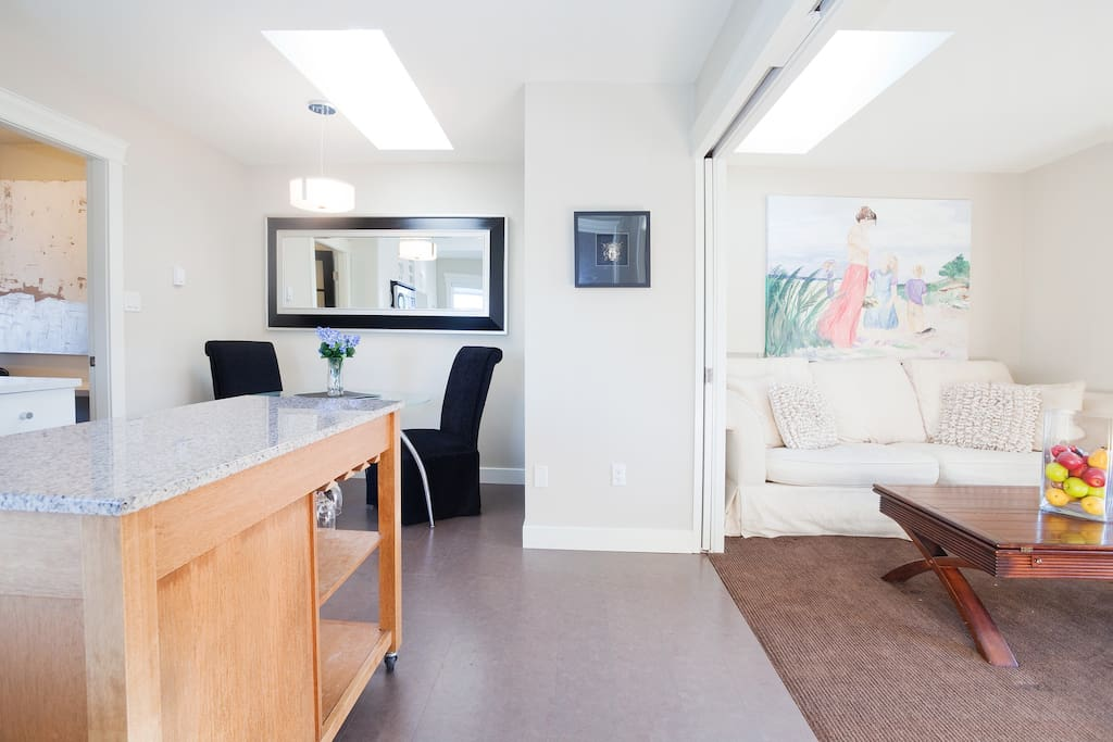 Fully equipped kitchen with skylight