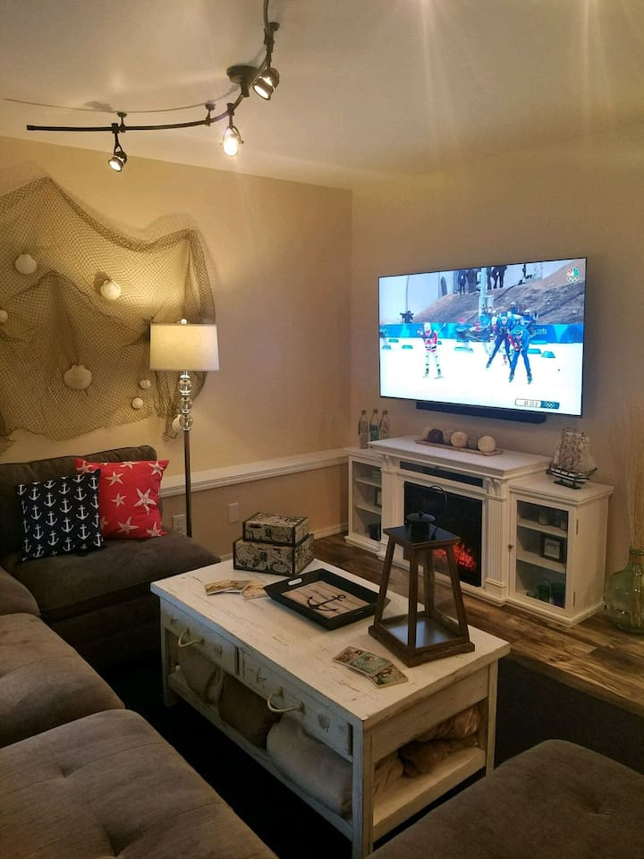 """Come stay in beautiful Seabeck!  Relax and enjoy the cozy comforts of your very own space.   65"""" 4K TV with Netflix & Amazon Prime plus board games galore set the tone for a fun-filled get-away."""