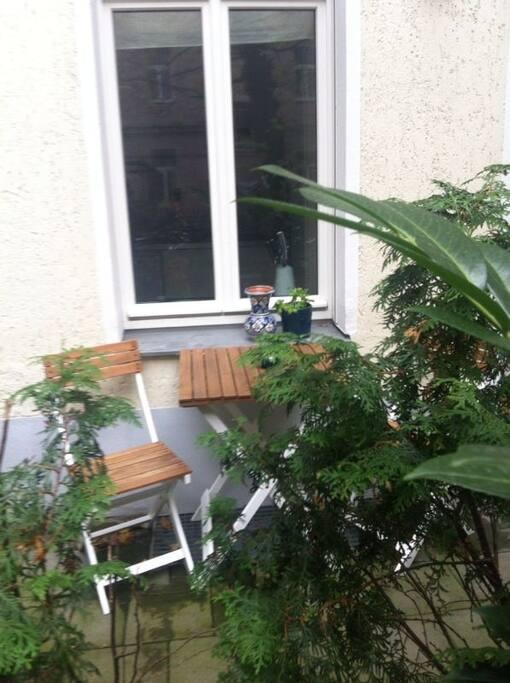 Die Wohnung hat eine eigene Terrasse