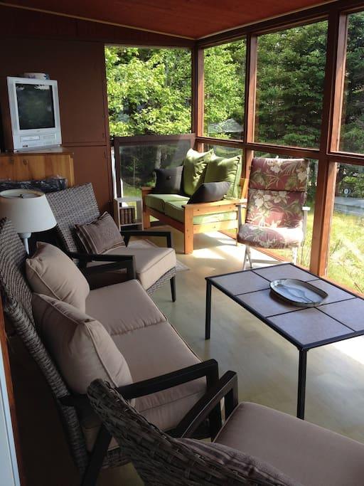 Sunroom and Living Area