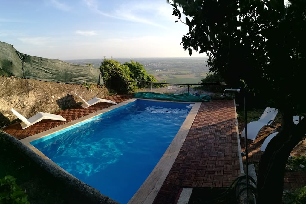 The swimming pool with panorama
