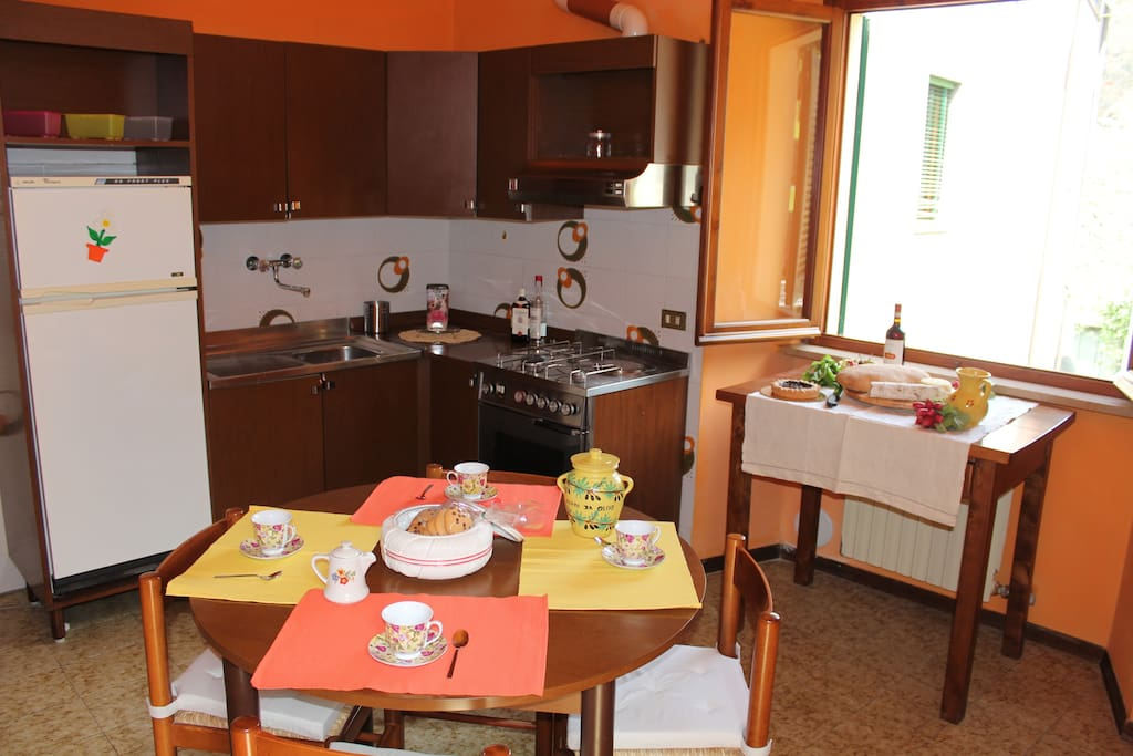 An equipped kitchen