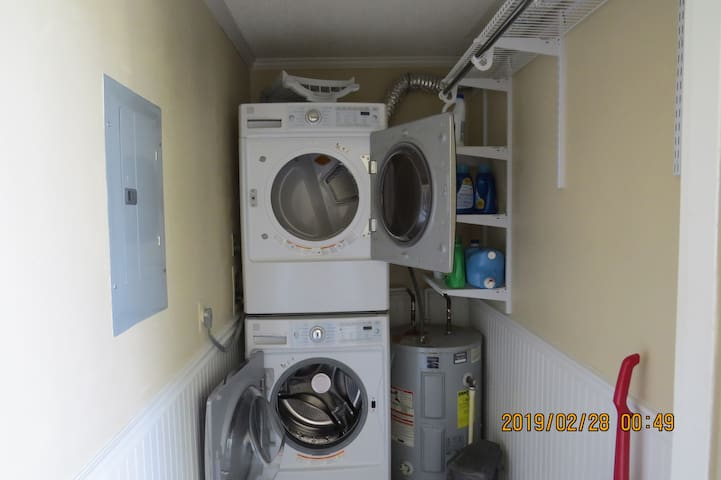 The private Laundry Room is located inside the Front Lani