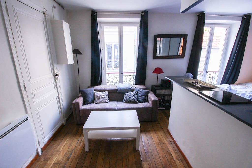 Comfortable sofa in the living room