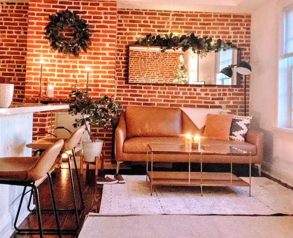 Stylish, Modern Exposed Brick Apartment!