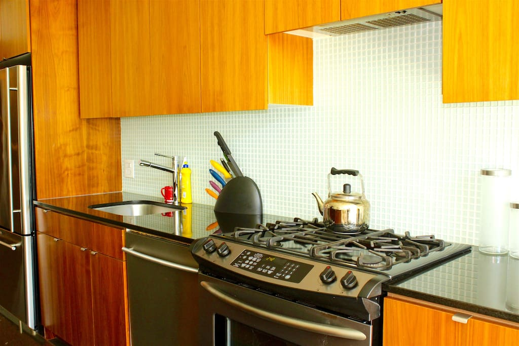 Fully equipped Kitchen with high end appliances