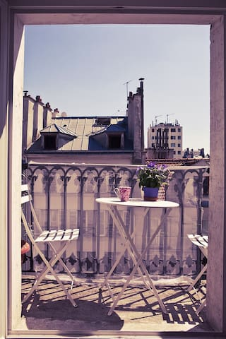 Spacious sunny and  typical parisian flat