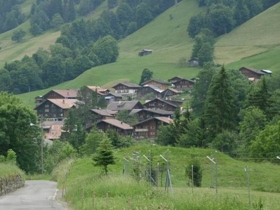 The smallest inhabited community in the Canton of Berne.