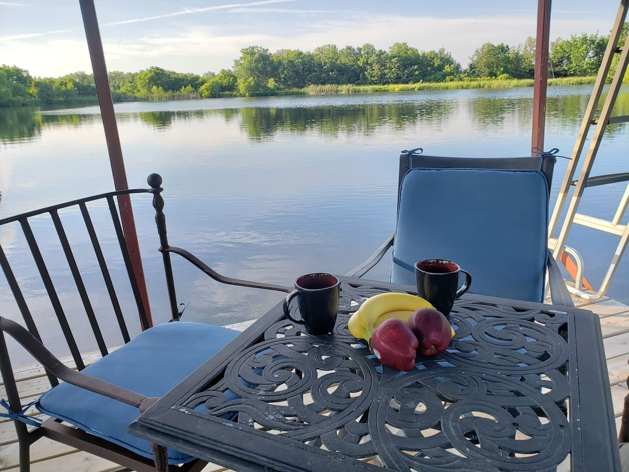 Have some morning coffee on the dock to start your day right