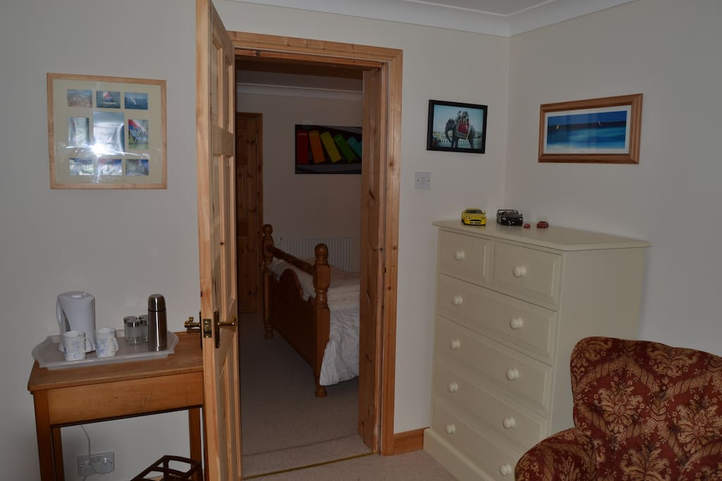 Separate lounge room with tea and coffee facilities