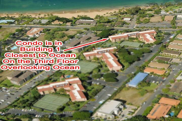 Aerial View of Maui Vista resort buildings