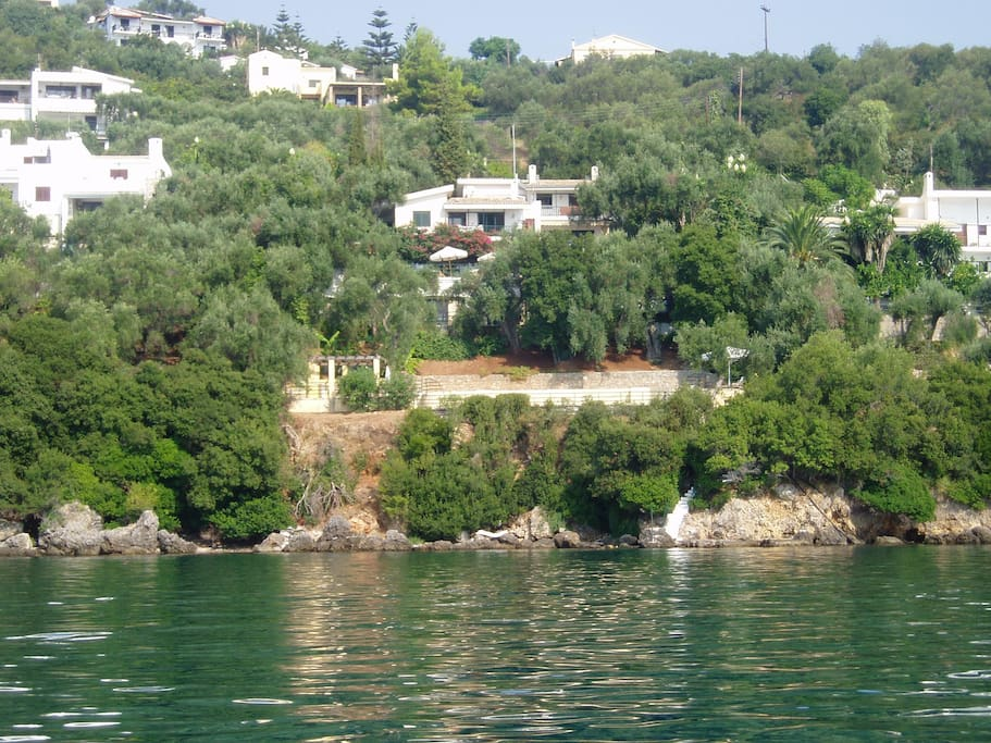 The 2 villas : View from the sea