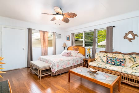 1 block from Kailua beach - Private 1br/1ba