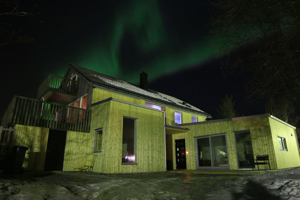 You don´t need to go far to see the Aurora Borealis ;-) The apartment to the right.