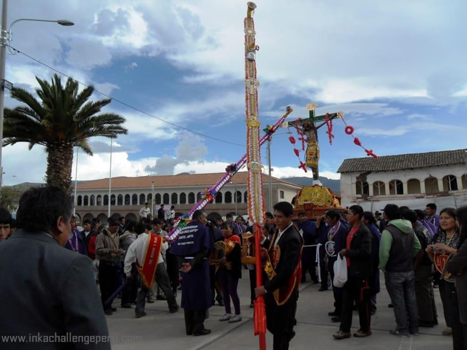 Holy week celebration in Zurite, Anta, Cusco