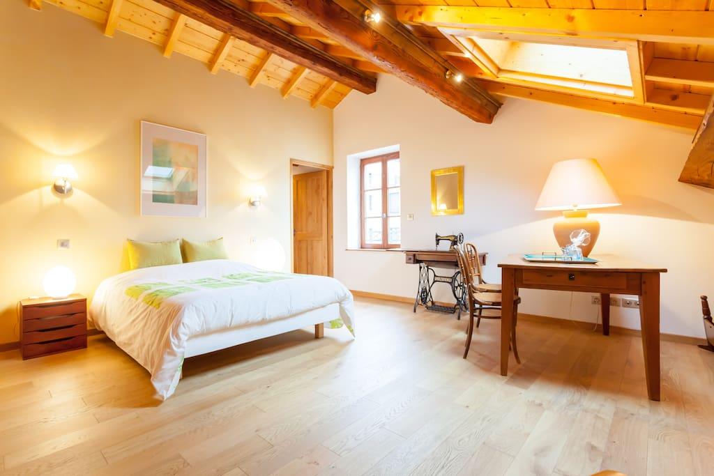 chambre de caract re petit d jeuner chambres d 39 h tes louer lyon rh ne alpes france. Black Bedroom Furniture Sets. Home Design Ideas