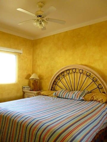 Master bedroom. King size bed with A/C.
