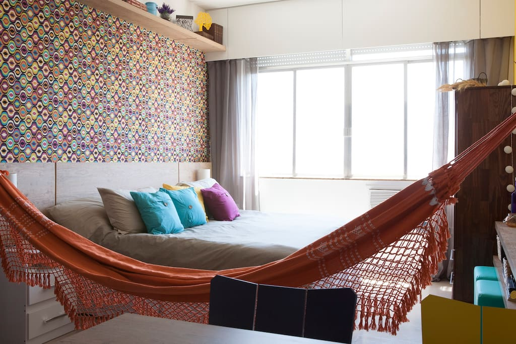 We offer a nice hammock for your relaxing time when you get back home after a busy day walking!