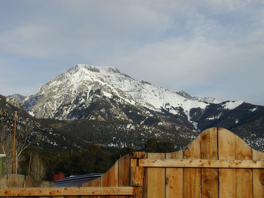 Gorgeous view of Crestone mountains
